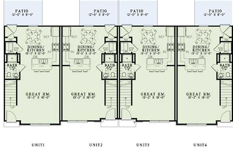 Multi Unit Home Plans by Multi Unit Home Plans Home Design 1358