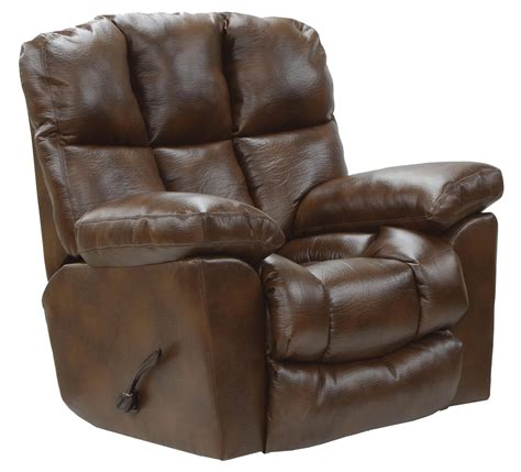 the catnapper recliner catnapper griffey bonded leather chaise rocker recliner