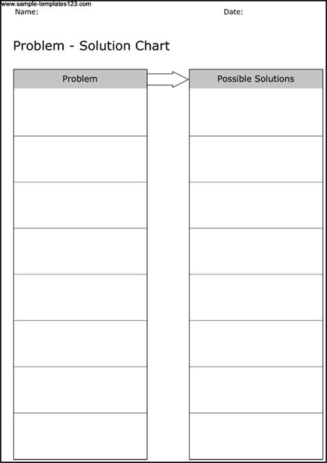 Solution Template problem solution chart template sle templates