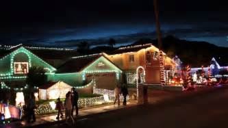 Christmas lights in hd candy cane lane youtube