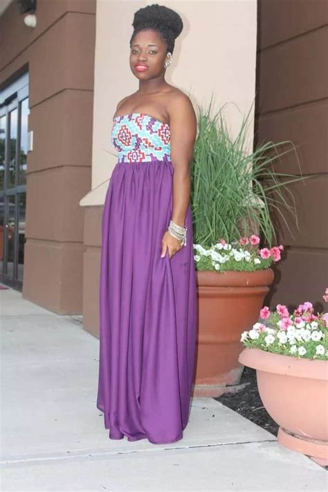 ankara flowing gown styles be stylish trendy ankara dresses with chiffon for