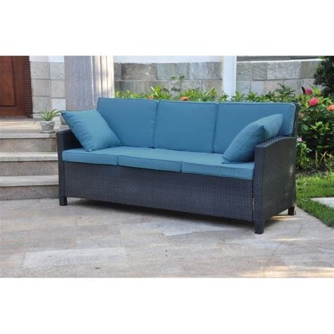 Aqua Sofa by Outdoor Patio Sofa In Antique Black And Aqua Blue 4142