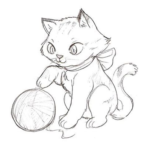kitten yarn coloring page cat color pages printable kitten coloring page cartoon