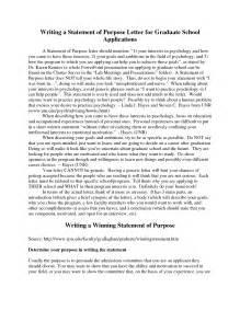 personal statement for graduate school template sle statement of purpose for graduate school admission