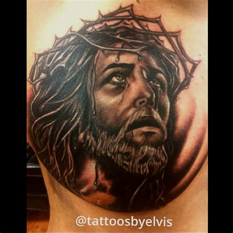 jesus chest tattoo ink jesus on chest