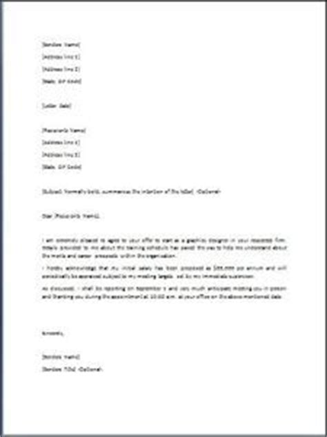 Acceptance Letter For New Hire A Offer Letter Format Business Letters Offer And Business Letter