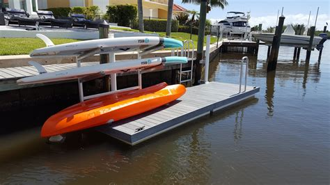 boat dock kayak rack kayak paddleboard racks floating docks