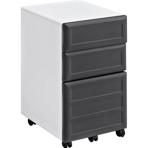 3 Drawer Filing Cabinet White by 3 Drawer File Cabinet In White And Gray 9523296
