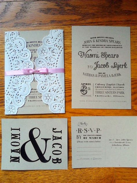 best 25 doily invitations ideas on rustic