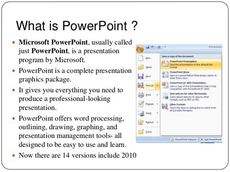 powerpoint presentation what is the power point