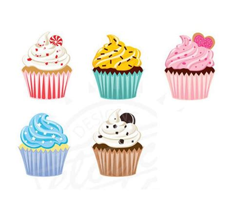 Cupcake Clipart Digital for scrapbooking stationery etc Free Clipart Cupcakes
