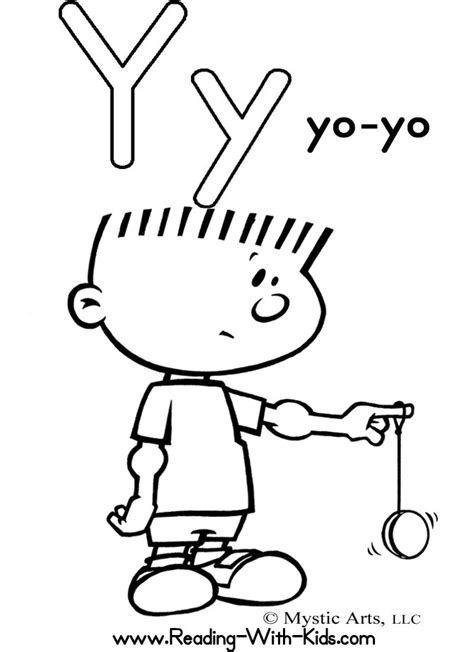 letter y coloring pages az coloring pages