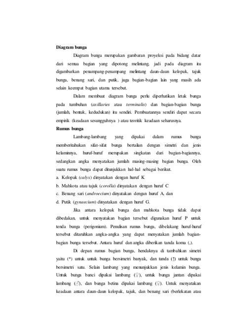 laporan praktikum membuat baterai dari buah laporan praktikum 7 rumus bunga dan diagram bunga