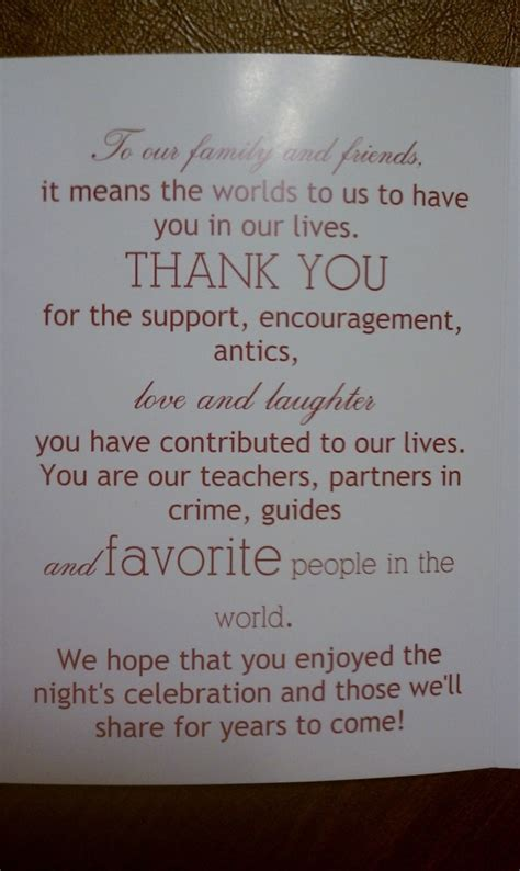 thank you letter to for wedding thank you note wedding