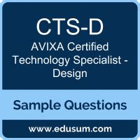 Free Avixa Cts D Sample Questions And Study Guide Edusum