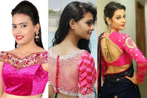 saree blouse designs hubpages wellness homes tattoo design bild 26 trendy celebrity pink blouse designs