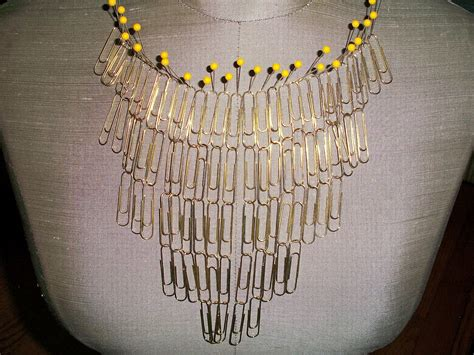 paper clip craft make a paperclip statement necklace 187 dollar store crafts