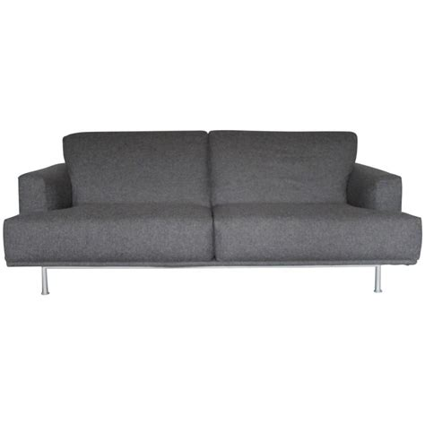 piero lissoni sofa cassina 253 nest two seat sofa in grey cashmere wool by