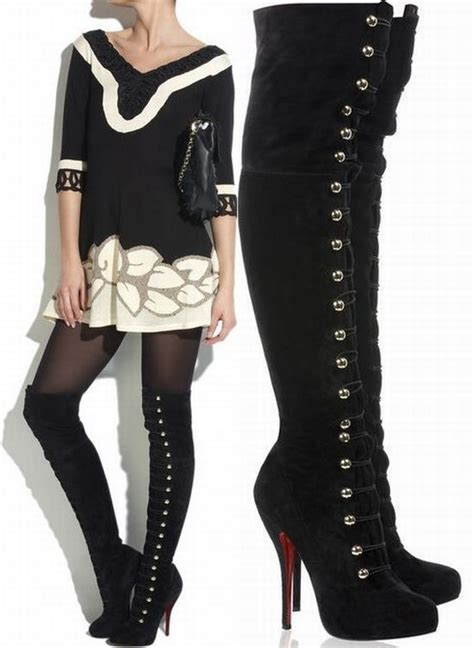 1000 ideas about lace thigh high boots on