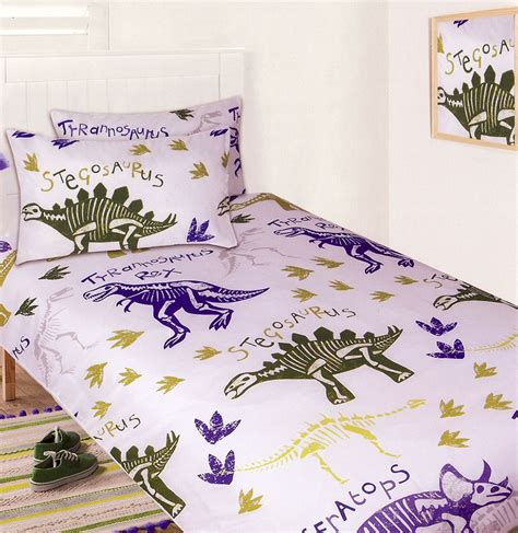 Dinosaur Quilt Cover by Dinosaur Bones Quilt Cover Set Dinosaur Bedding