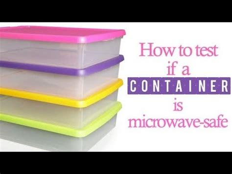 how to tell a is how to tell if a container is microwave safe