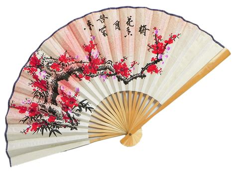 Japanese Paper Fan Craft - the setting sun meets the blossoming flowers wall