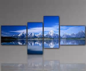 wandbilder wohnzimmer designbilder wandbild berge gipfel gebirge schnee