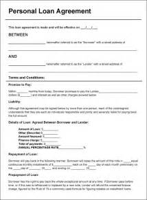 Family Loan Agreement Template Free Download free personal loan agreement doc pdf 2 page s
