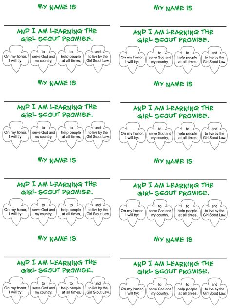 printable girl scout name tags pin by tiffany parrett on daisy girl scouts pinterest