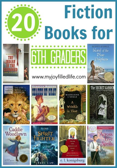 books for 20 fiction books for 6th graders my filled
