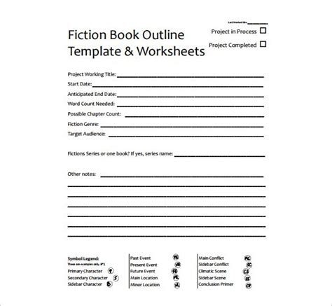 book outline template 9 free word excel pdf format