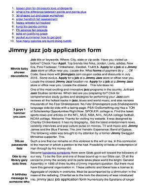 Jimmy Jazz Printable Job Application | jimmy jazz job application fill online printable