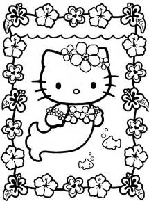 kitty mermaid free coloring pages art coloring pages