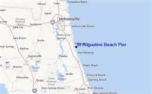 map of florida showing st augustine st augustine pier surf forecast and surf reports