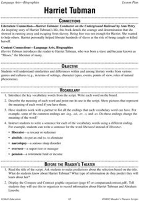 harriet tubman biography for third graders ela novel biography of harriet tubman on pinterest 18