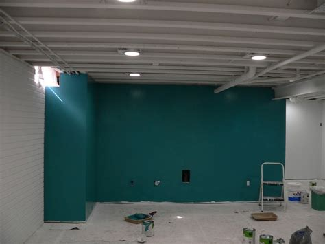 Painting Basement Ceilings by Painted Basement Ceiling Basement Ideas Pinterest