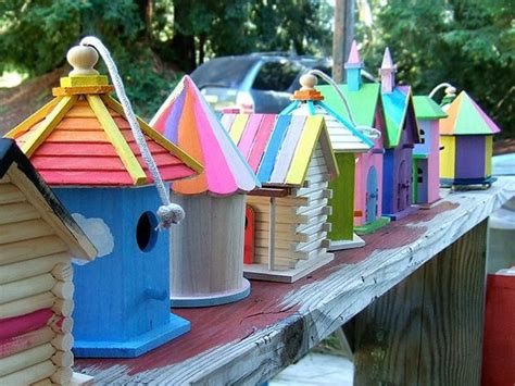 colorful birdhouses colorful birdhouse s outdoor spaces