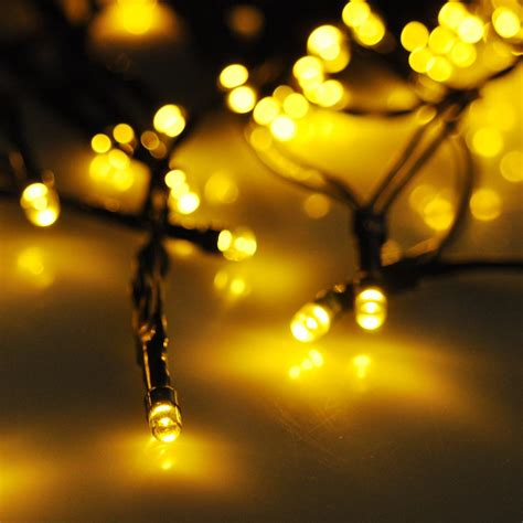 solar outdoor xmas tree lights 60 led string solar light outdoor garden xmas wedding