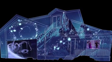 christmas lights projected on house frozen house projection sle