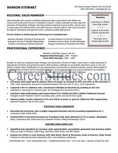resume sales management