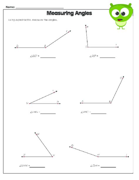 angle math worksheets geometry worksheets for practice angle worksheets for 4th grade math naming angles