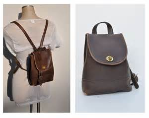 leather backpack purses coach vintage leather backpack purse back pack ruck sack