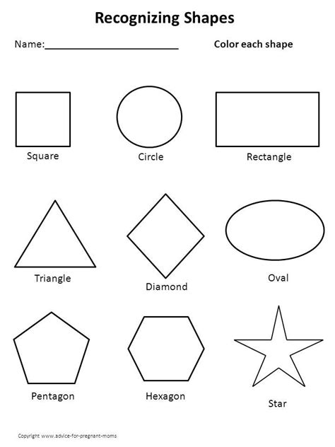 free printable shapes templates printable kindergarten worksheets worksheets for