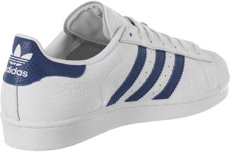 adidas superstar animal schuhe weiss blau im weare shop