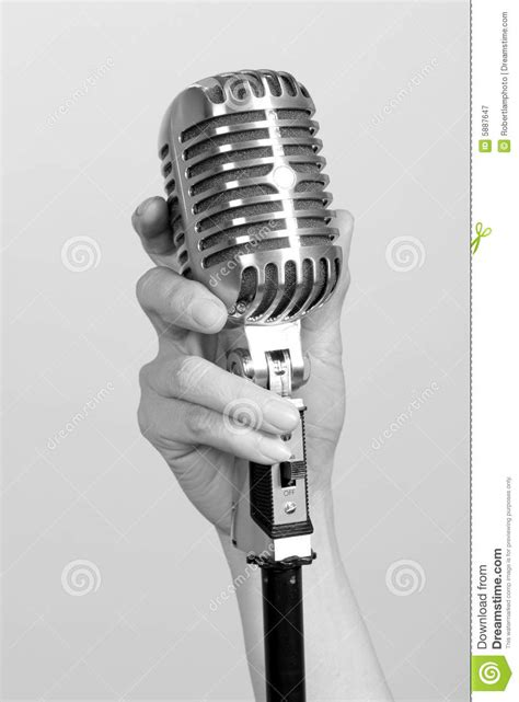 vintage microphone royalty free stock photography image