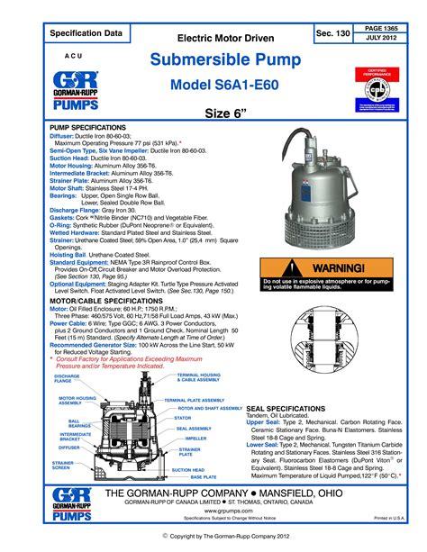 gorman rupp submersible pump supplier worldwide