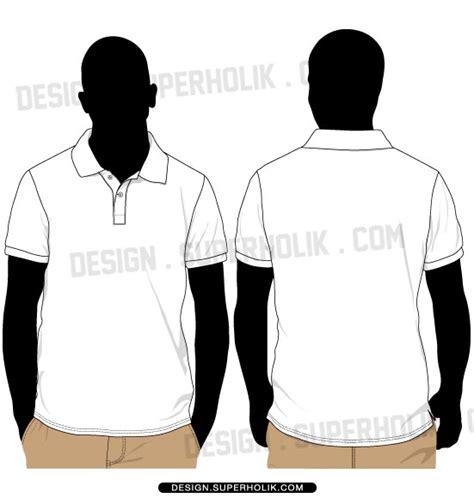 blank polo shirt template vector