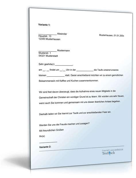 einladungsbrief visum deutschland einladung taufe vorlage zum