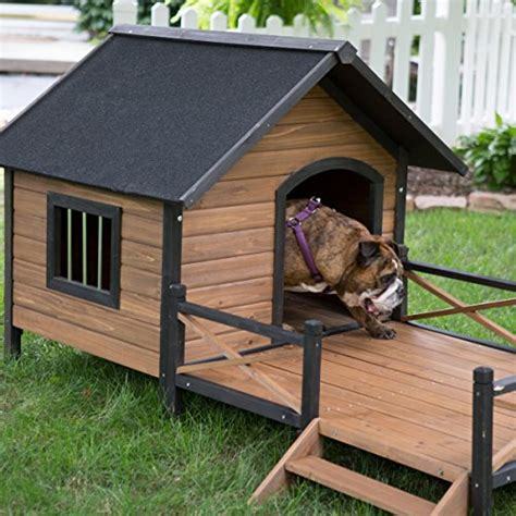 porch dog house large dog house lodge with porch deck kennels crates solid fir wood spacious deck for