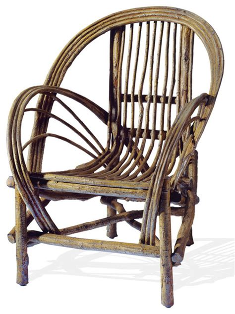 cast aluminum bent willow chair rustic outdoor lounge